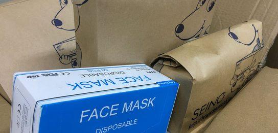 マスクの配送用包装